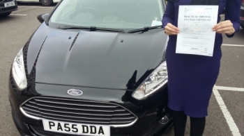 Anisa Kran, proudly holding her Pass Certificate after passing first time today.  An excellent result, well deserved from hard work resulting in only 2 driver faults.  Congratulations again and well done. Good luck. Salvina Drivewell Driving Academy 23rd May 2017....