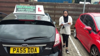 Farhana Tarofdear delighted to be holding her Pass Certificate after passing her Driving Test first time today.  A lovely safe drive as a result of all her hard work. Congratulations and well done again.  Enjoy your driving. Salvina Drivewell Driving Academy 27th July 2017...