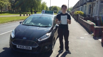 Joao Domingues pleased to be holding his Pass Certificate after passing his test first time today.  A brilliant, safe and confident drive with only 1 driver fault. Joao listened to Salvina and produced the result on the day. Remember Salvina´s advice to help you drive safely and enjoy your driving. Salvina Drivewell Driving Academy 10th May 2...