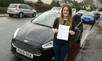 Natalie Vaughan is delighted to be holding her Pass Certificate after passing her Driving Test today....