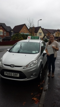 Georgia McCarthy proudly holding her Pass Certificate after passing her test today. A great result well deserved with hard work and plenty of private practice.  The examiner complimented her on a nice safe drive with few driver faults.  Hope to see you for Pass Plus.  Congratulations and well done again.  Sarah 1st November 2013....