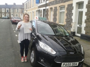 Kirsty Green delighted to be holding her Pass Certificate following a brilliant, faultless and safe drive.  NO DRIVER FAULTS.  Not many candidates can boast having a driving test with no recorded faults, but Kirtsy can - fantastic.  A great result after listening to Salvina and following her advice.  Congratulations and well done again. Enjoy your ...